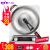 八品凹面IHククグーヒー家庭用IHロックヒ-タセット鍋具3000 W大出力電磁かまど大火力爆発炒めIHコーゲンヒ-レベルアップ十段銀色(精鉄鍋コース02)